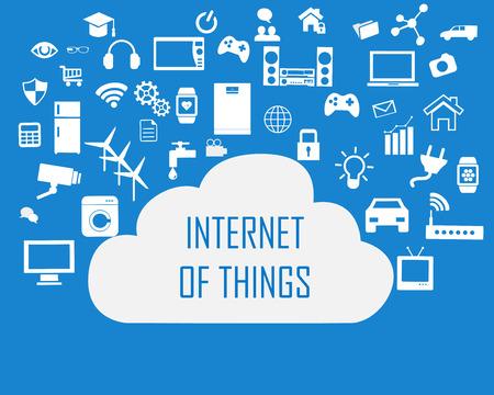 Internet de las cosas concepto y la tecnología de la computación de la nube Smart Home Tecnología concepto de red de Internet. Internet de las cosas nube con la tecnología de la computación apps.Cloud Aplicaciones device.Cloud