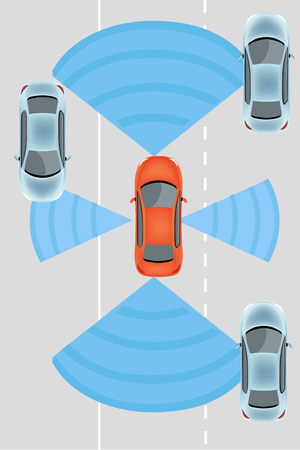 autonomous: Automobile sensors use in self-driving cars:camera data with pictures Radar and LIDAR  Autonomous Driverless Car