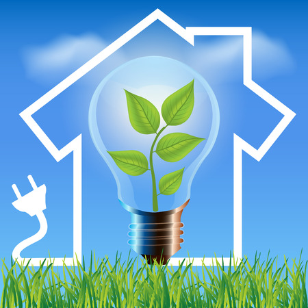 environmental friendly: Environmental friendly energy.Energy saving concept Eco house.Think green concept