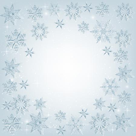 雪の結晶のエレガントなクリスマスの背景。クリスマス、新年のご挨拶デザイン  イラスト・ベクター素材