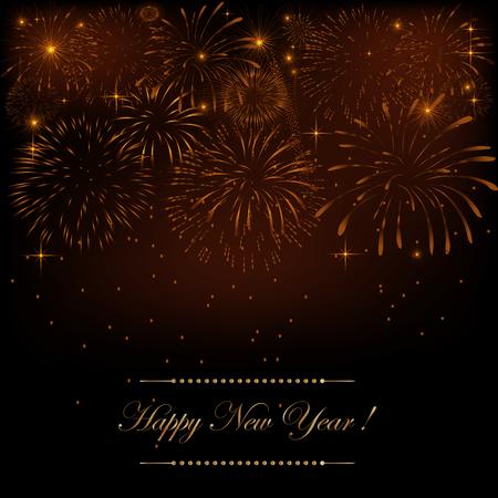 新年の花火。花火の背景  イラスト・ベクター素材
