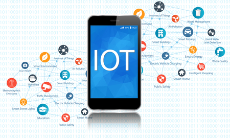 インターネットのすべての別のアイコンと要素の概念。デジタル ネットワーク接続近代的な通信技術。