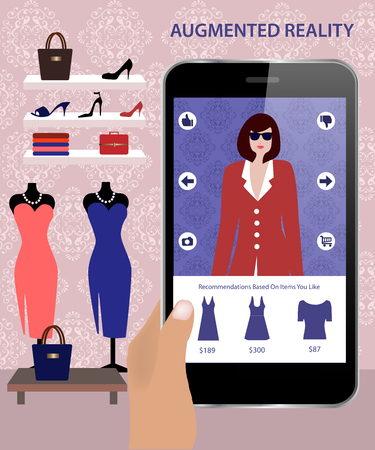 shopping malls: Augmented Reality application that allows customers to dress onscreen models who respond to consumers.