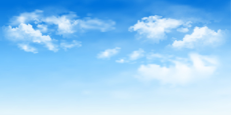 A Background with clouds on blue sky. Blue Sky vector illustration.