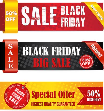 ブラックフライデーセールバナーセット。Web バナー、ポスター、ニュースレターのデザイン、広告、クーポン、ソーシャル メディア バナーに使用できます。 写真素材 - 86313846