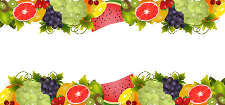 Background With Organic Fresh Fruits. Healthy Food. Fresh food concept