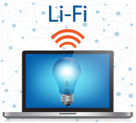 Li-Fi or Light Fidelity technology uses light bulbs to transmit data.Visible light communication systems.