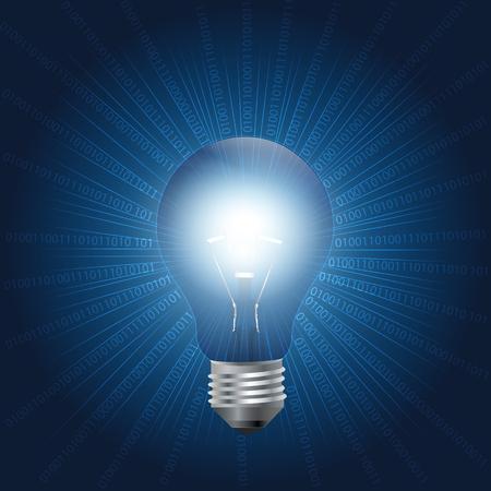 李-Fi または忠実度の光技術は、電球を使ってデータを転送します。可視光通信システム。 写真素材 - 88082556