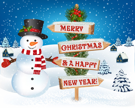 New year and Christmas greetings design.