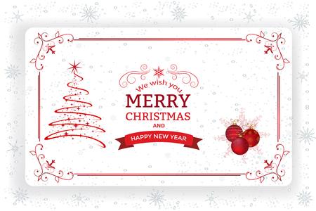 クリスマス装飾と紙の背景。地球儀星やクリスマス ツリーの装飾クリスマスの背景 写真素材 - 90906760