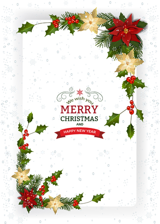 Christmas greeting card design concept. Vectores