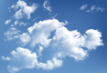 Background of clouds on blue sky.