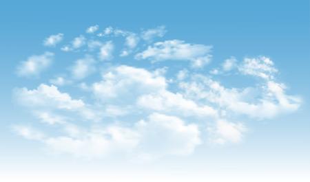 青空に雲が立つ背景。青空ベクトル 写真素材 - 93079548