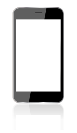 Phone, mobile Mock-up. Realistic Smartphone Isolated on white Background. Display Front View.
