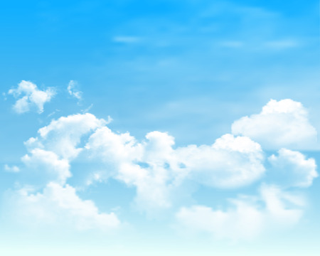 Background with clouds on blue sky.