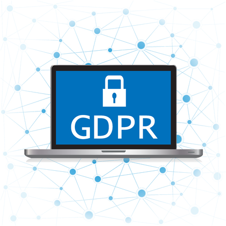 GDPR - General Data Protection Regulation. GDPR and cybersecurity. Protection of private personal data.