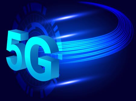 5G technology worldwide. 5G Global network concept.Wireless  network and 5G Connection technology concept