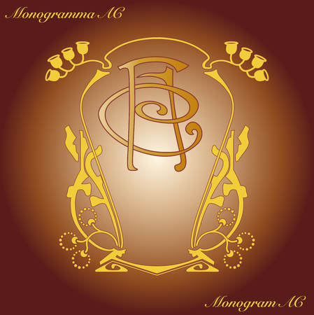Liberty monogram AC Illustration