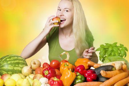 woman eating Stock Photo