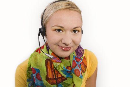 Hotline Operator With Headset Stock Photo - 4202037