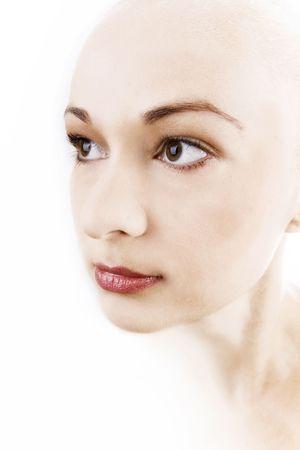 face of a beautiful woman Stock Photo