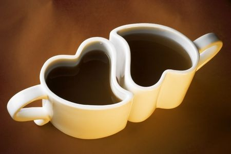 love cups of coffee - for valentines day