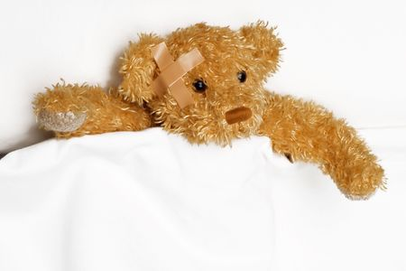 Teddy bear as a patient Stock Photo