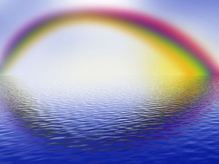 arcobaleno, cielo e mare Archivio Fotografico - 4519067