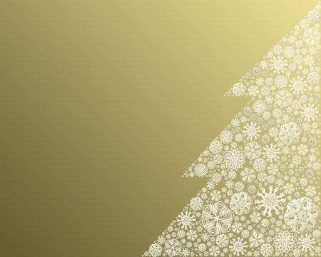 Christmas tree made of snowflakes - illustration Stock Photo