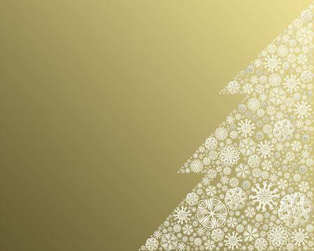 Christmas tree made of snowflakes - illustration Stock Photo
