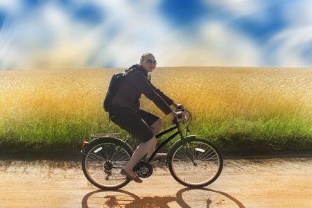 girl biking Stock Photo - 5010525