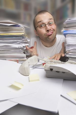 lazy male at work at the office Stock Photo - 5022629