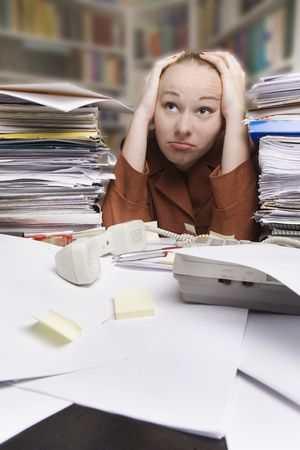 lazy day at work - businesswoman Stock Photo - 5022686