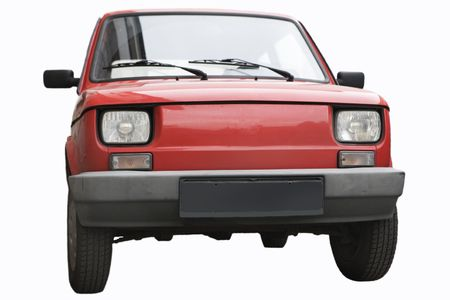 fiat: an old car - fiat 126p Stock Photo