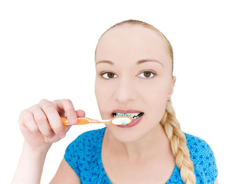 girl brushing teeth Stock Photo - 5255576