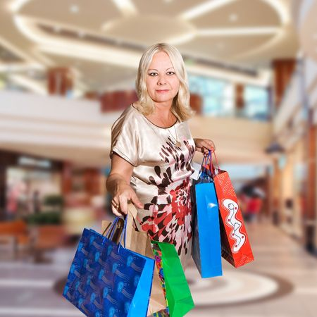 shopping woman - 50 years old Stock Photo - 5464467