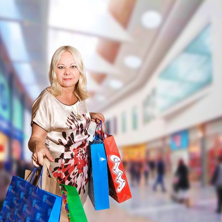 shopping woman - 50 years old Stock Photo