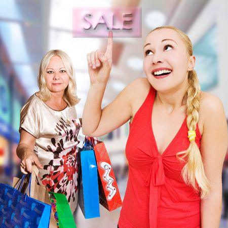 casua: women shopping Stock Photo