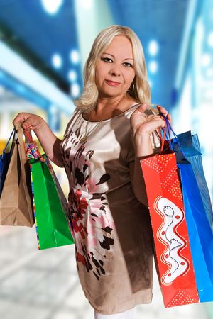 50 years old woman shopping Stock Photo - 5464471