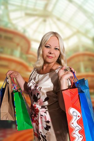 50 years old woman shopping Stock Photo - 5464469