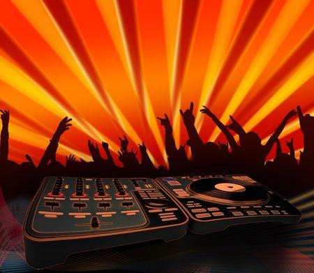 nightclubing - electro music background (illustration)