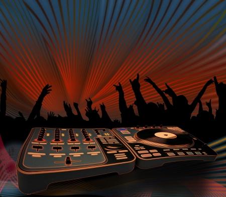 electro music concert photo