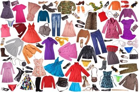 sueteres: ropa - fondo de moda Foto de archivo