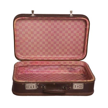 maleta: abri� la maleta vintage Foto de archivo