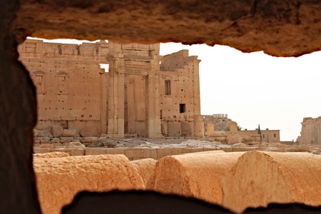 Temple of Bel. Ruins of the ancient Semitic city of Palmyra on syrian desert (shortly before the war)