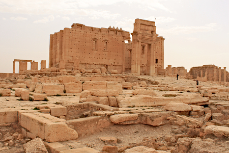 Temple of Bel. Ruins of the ancient city of Palmyra on syrian desert (shortly before the war)