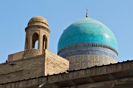 Kalan Mosque. Historic center of Bukhara contains numerous mosques Standard-Bild - 117105157