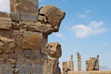 Ruins of Persepolis - ancient capital of the Persian empire. Standard-Bild - 117105160