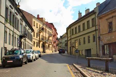 Lithuania, Vilnius; August 14th 2017 - Angel Square in Vilnius in Lithuania. Zarzecze district. Standard-Bild - 123681528