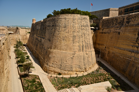 The fortifications of Valletta are a series of defensive walls and other fortifications which surround the capital city of Valletta, Malta.